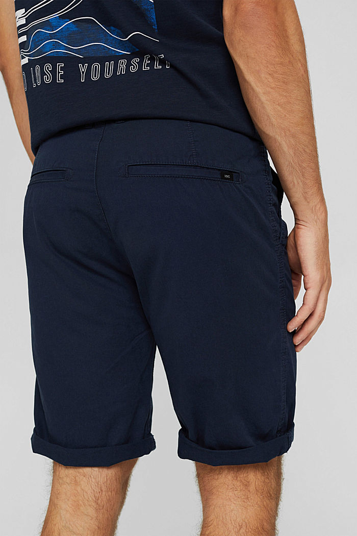 Shorts in cotone biologico, NAVY, detail image number 2