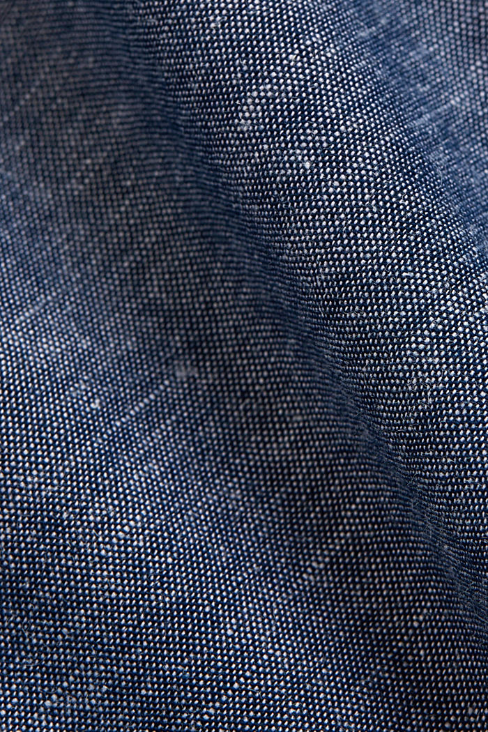 Linen/organic cotton: short-sleeved shirt, NAVY, detail image number 4