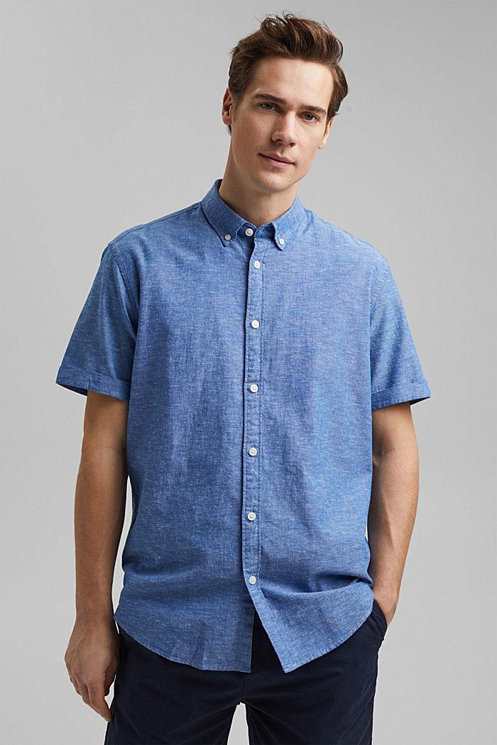 Leinen/Organic Cotton: Kurzarm-Hemd