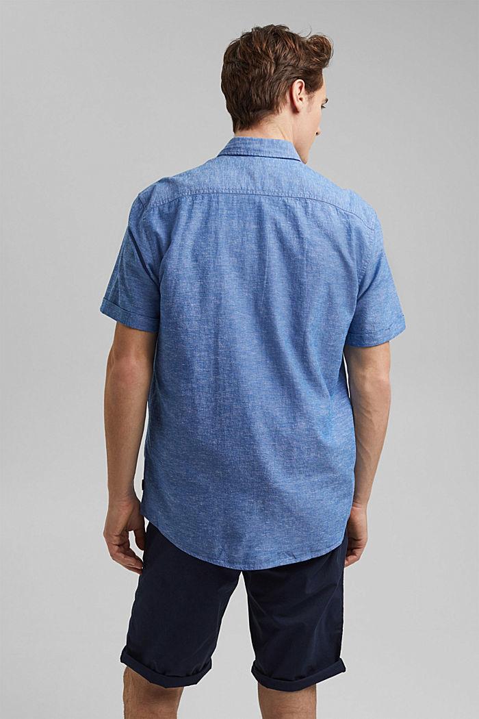 Leinen/Organic Cotton: Kurzarm-Hemd, LIGHT BLUE, detail image number 3