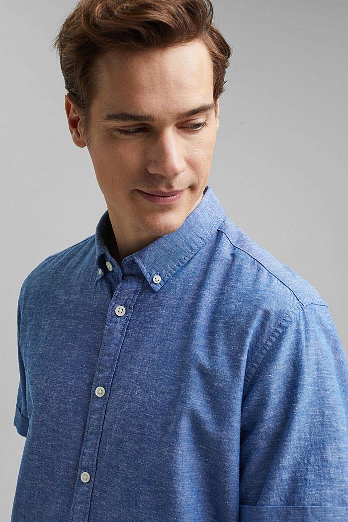 Leinen/Organic Cotton: Kurzarm-Hemd, LIGHT BLUE, detail image number 5