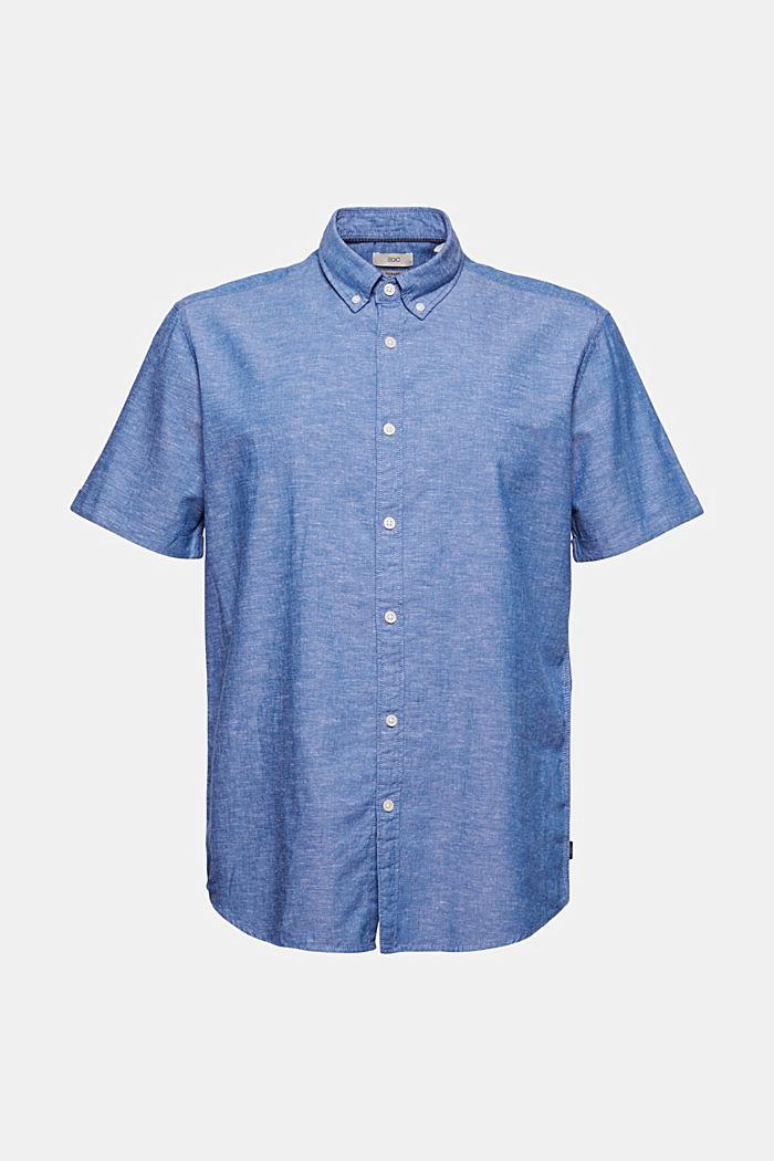 Leinen/Organic Cotton: Kurzarm-Hemd, LIGHT BLUE, detail image number 6