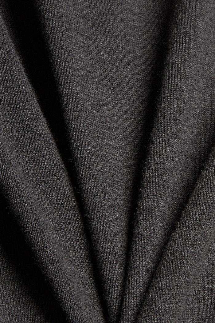 Neulepusero 100 % luomupuuvillaa, DARK GREY, detail image number 4