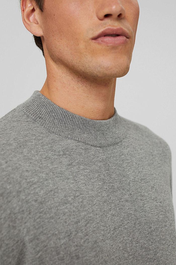 Jumper made of 100% organic cotton, MEDIUM GREY, detail image number 2