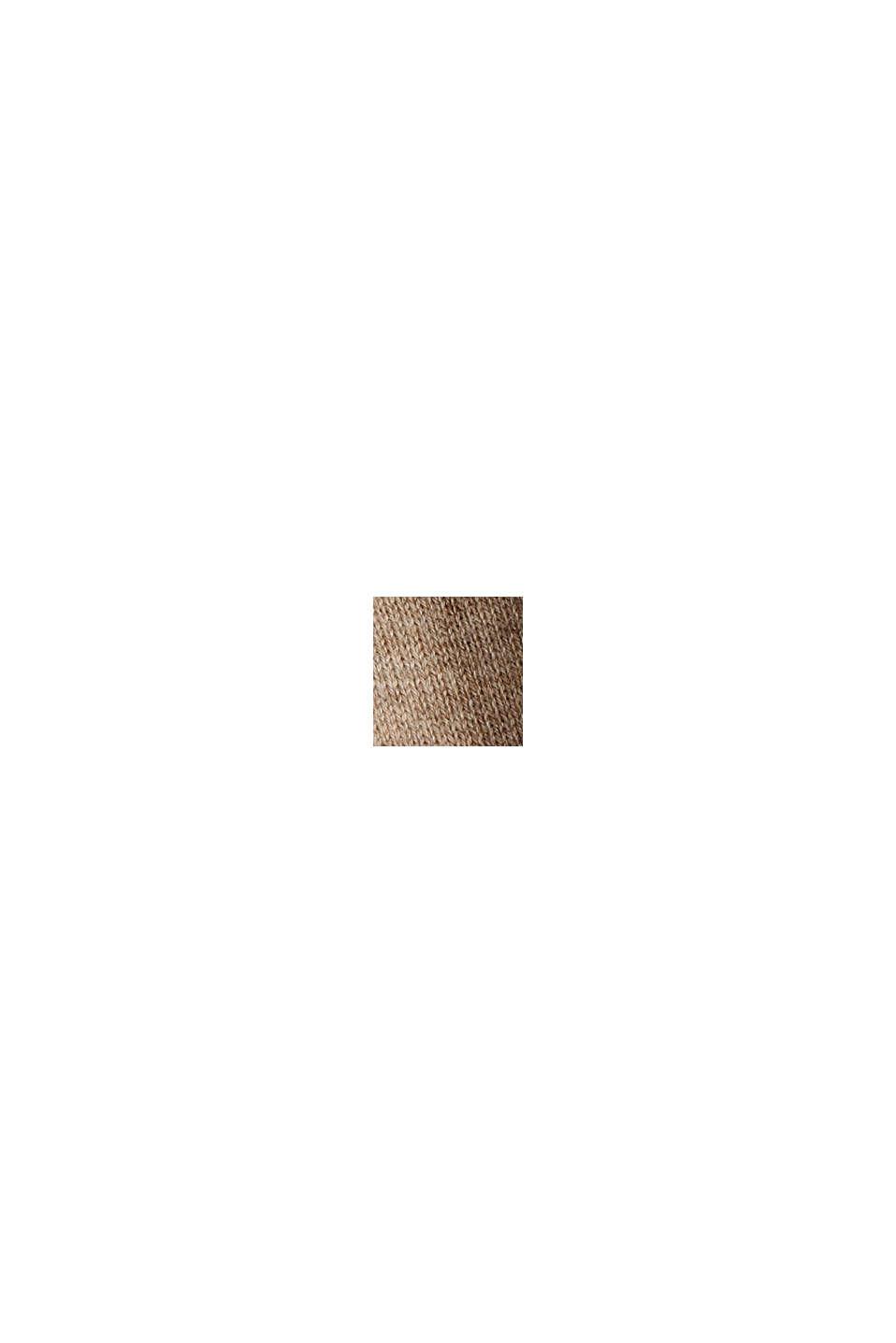 Jersey realizado en 100% algodón ecológico, BEIGE, swatch