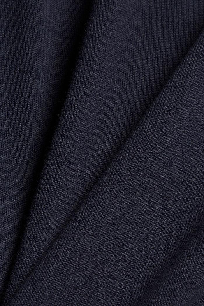 Pull-over 100% coton biologique, NAVY, detail image number 4