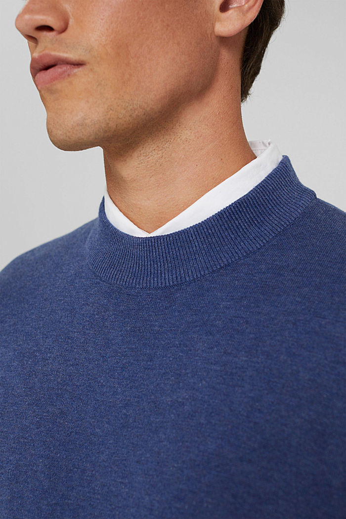 Pullover in 100% cotone biologico, GREY BLUE, detail image number 2