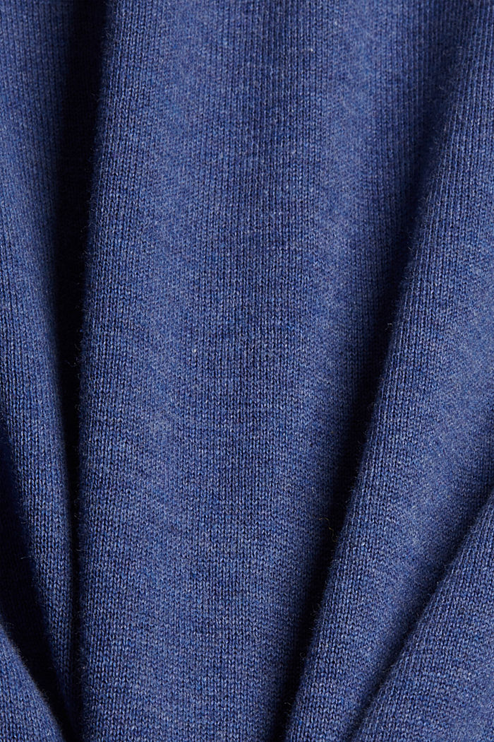 Pullover in 100% cotone biologico, GREY BLUE, detail image number 4