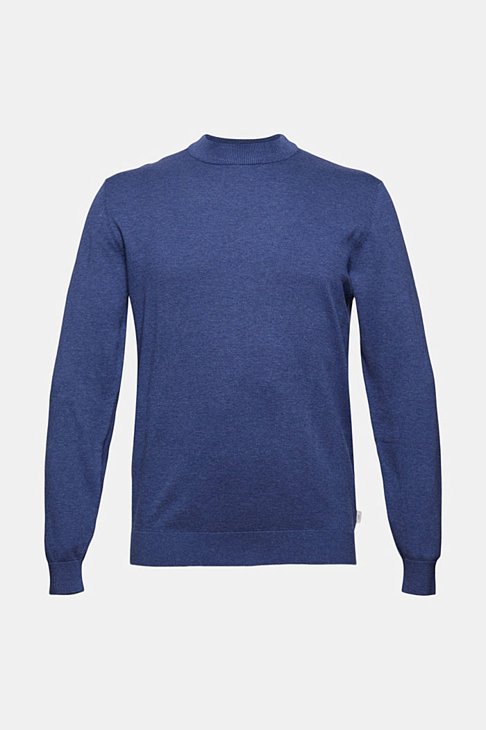 Pullover in 100% cotone biologico, GREY BLUE, detail image number 5