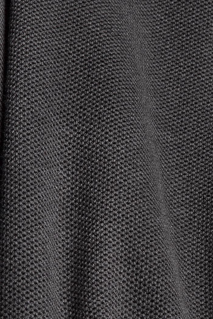 Pull-over texturé, 100% coton biologique, DARK GREY, detail image number 4