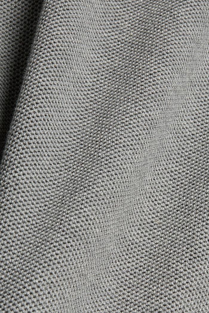 Pullover strutturato in 100% cotone biologico, MEDIUM GREY, detail image number 4