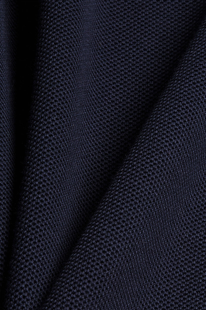 Pullover strutturato in 100% cotone biologico, NAVY, detail image number 4