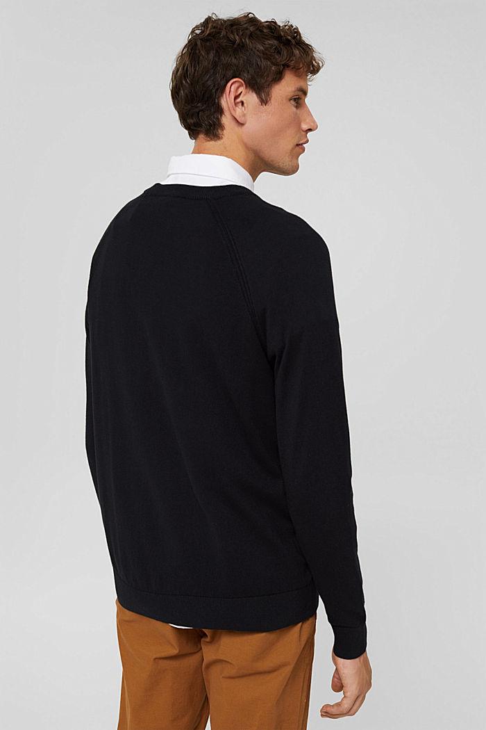 Mit Kaschmir: Pullover mit Rundhals, BLACK, detail image number 3