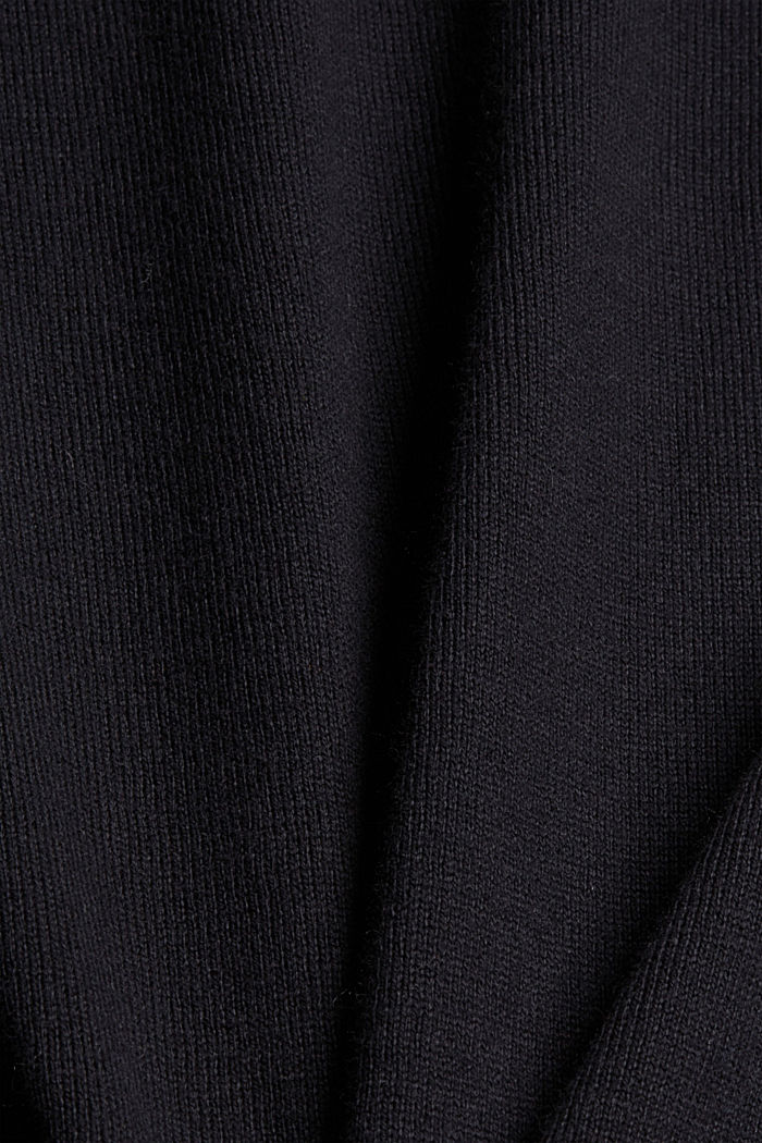 Mit Kaschmir: Pullover mit Rundhals, BLACK, detail image number 4