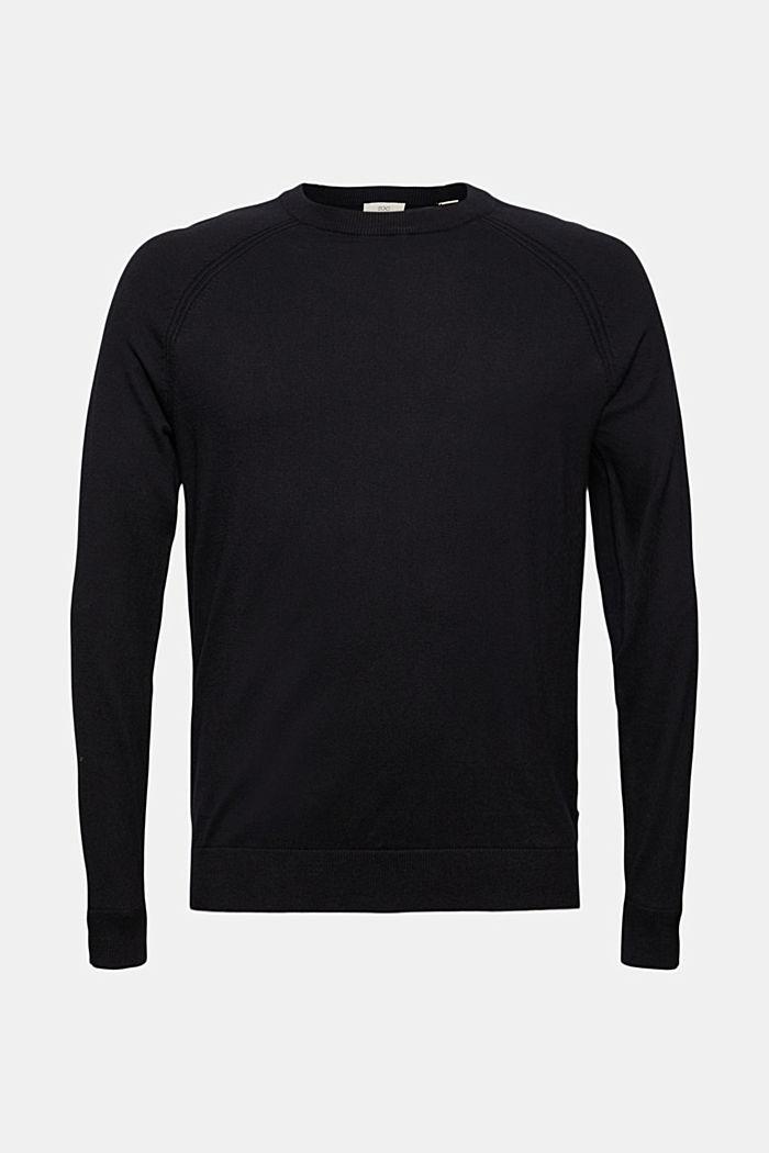 Mit Kaschmir: Pullover mit Rundhals, BLACK, detail image number 6