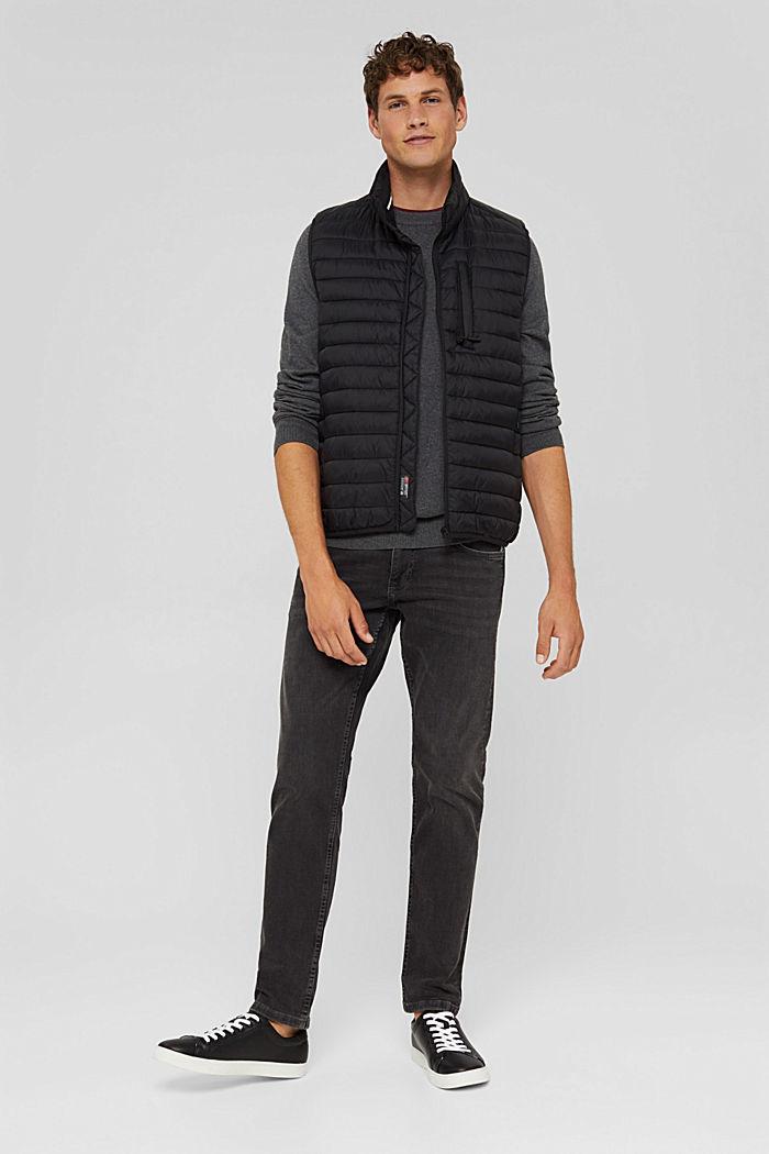With cashmere: jumper with a round neckline, DARK GREY, detail image number 1