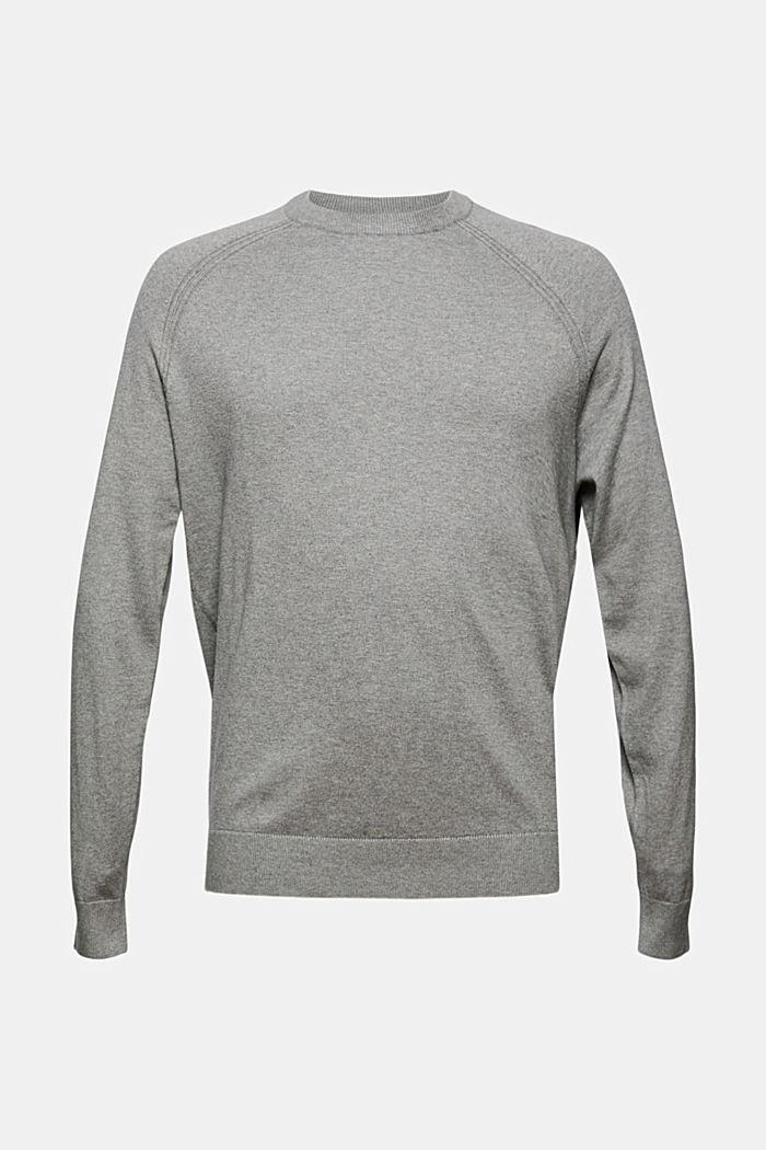 Con cashmere: pullover con scollo rotondo