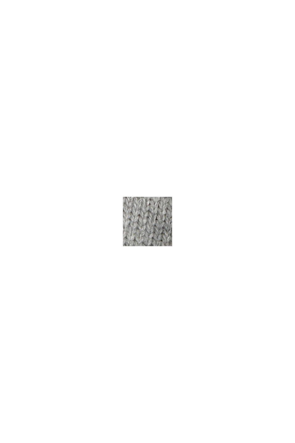 Con cashmere: pullover con scollo rotondo, MEDIUM GREY, swatch