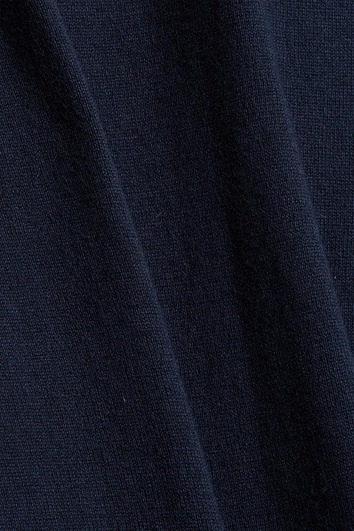 À teneur en cachemire: le pull-over à encolure ronde, NAVY, detail image number 4