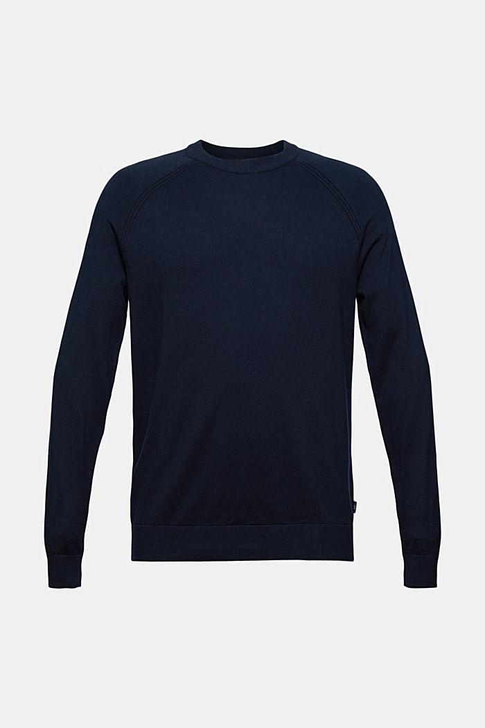 Med kashmir: rundringad tröja