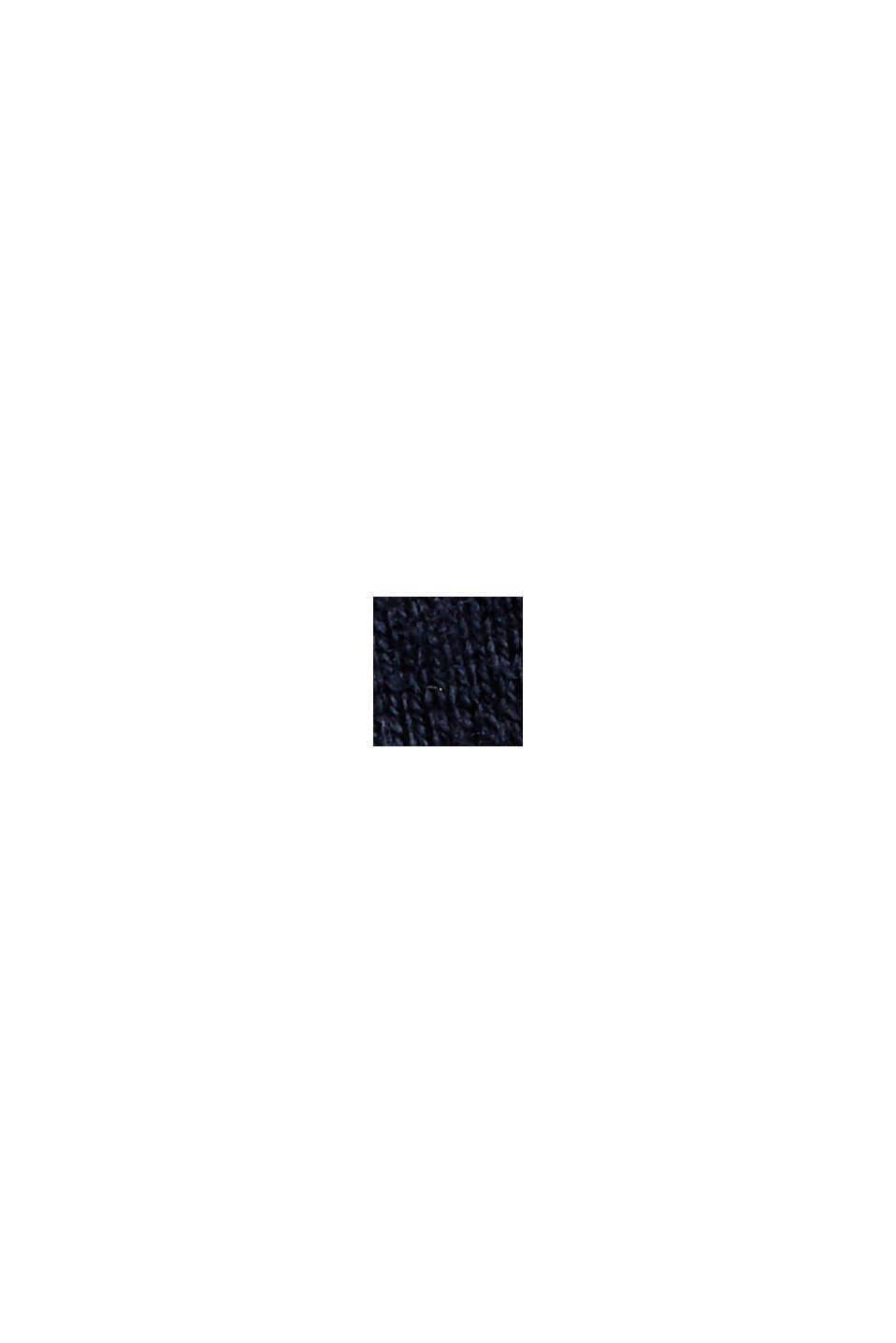Con cashmere: pullover con scollo rotondo, NAVY, swatch