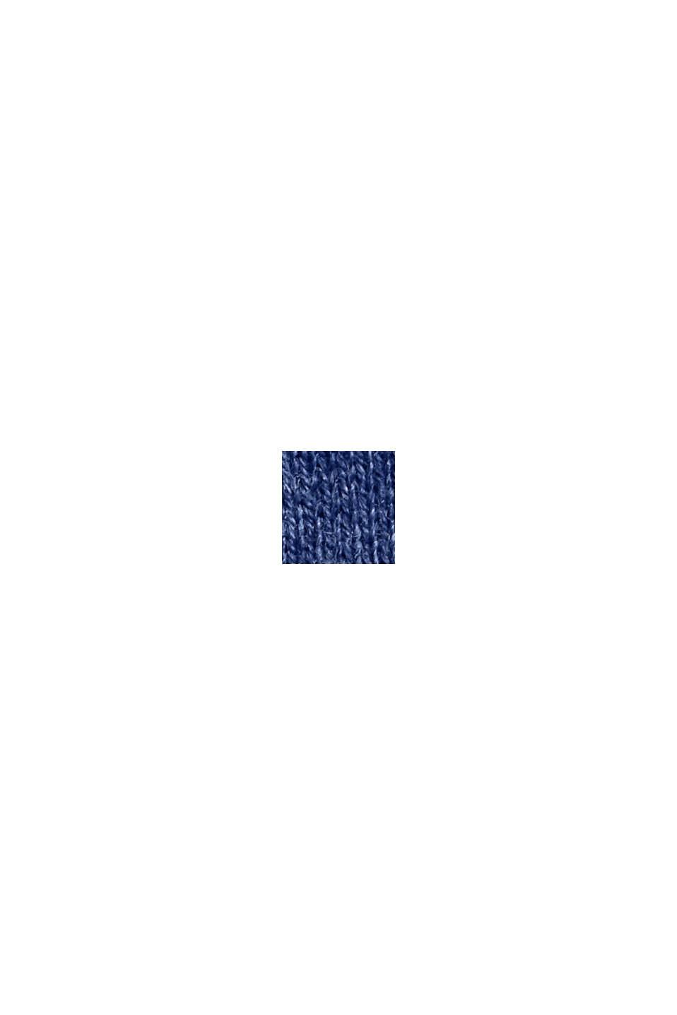 Con cashmere: pullover con scollo rotondo, GREY BLUE, swatch