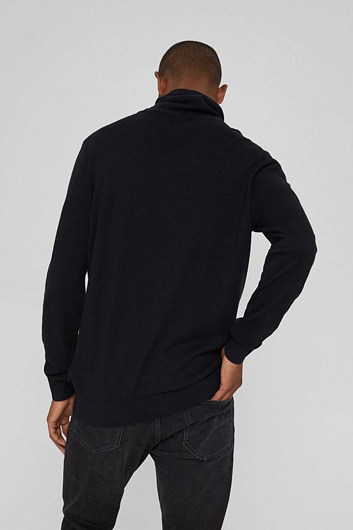 Sisältää kašmiria: neulepusero, jossa kiristysnauhakaulus, BLACK, detail image number 3