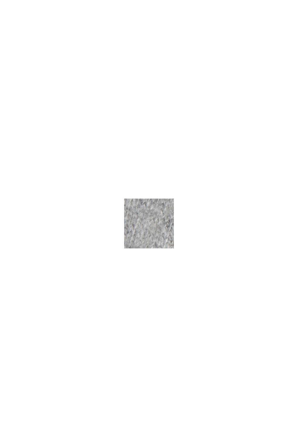 Con cashmere: pullover con colletto con coulisse, MEDIUM GREY, swatch