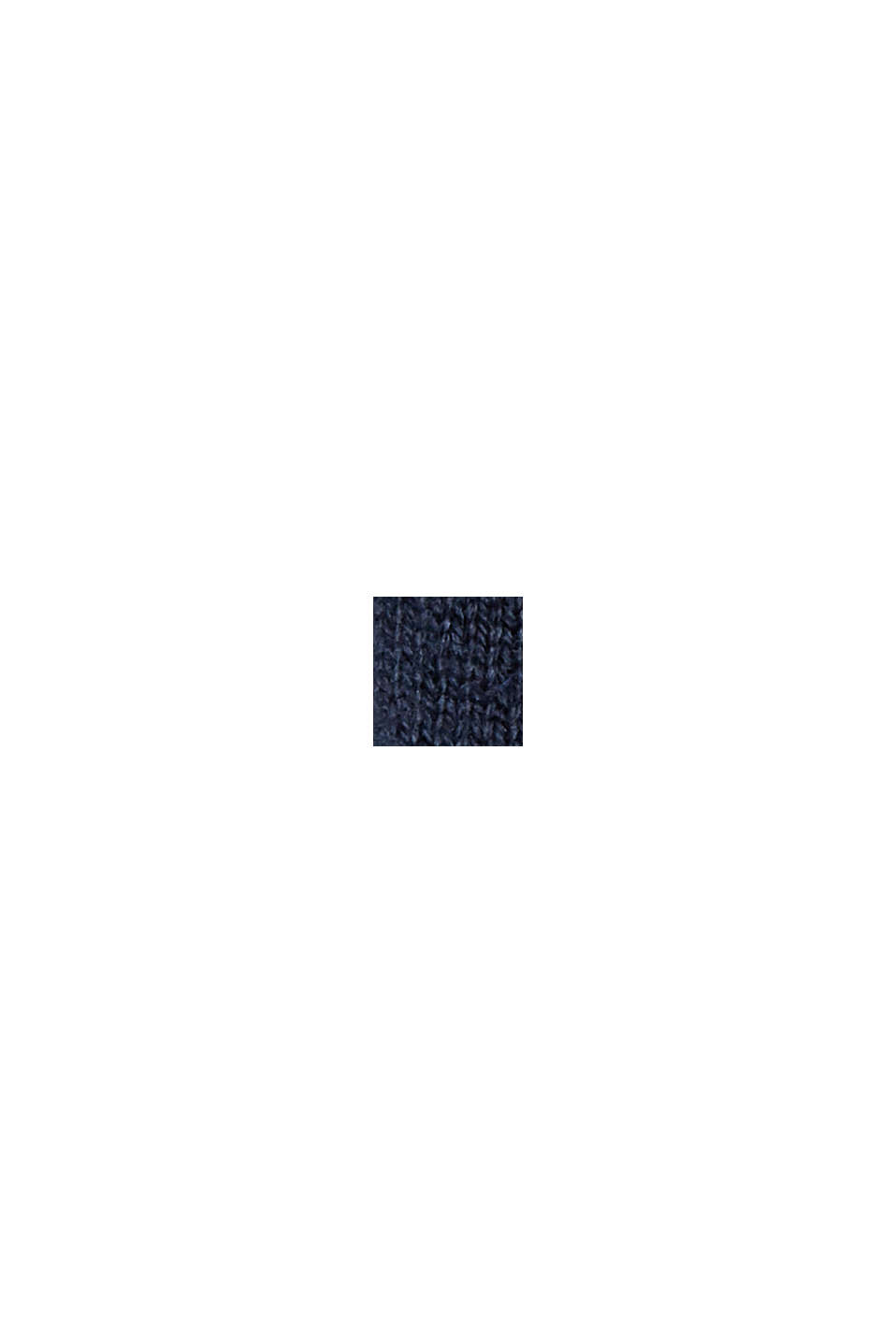 Con cashmere: pullover con colletto con coulisse, NAVY, swatch