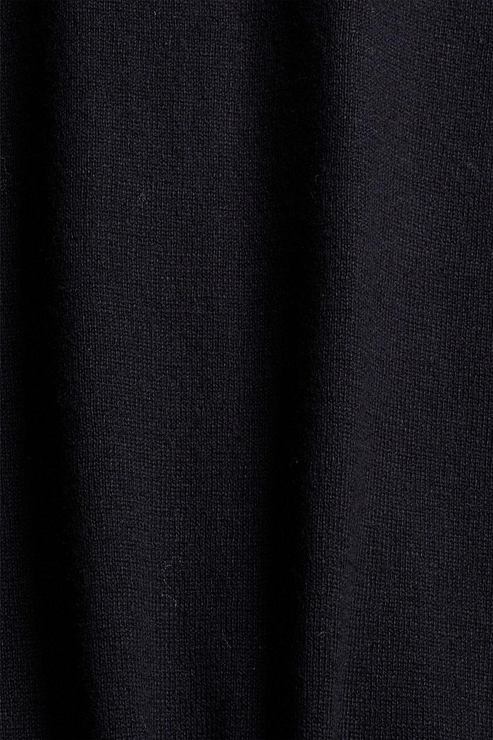 Z kaszmirem: kardigan na zamek, BLACK, detail image number 4