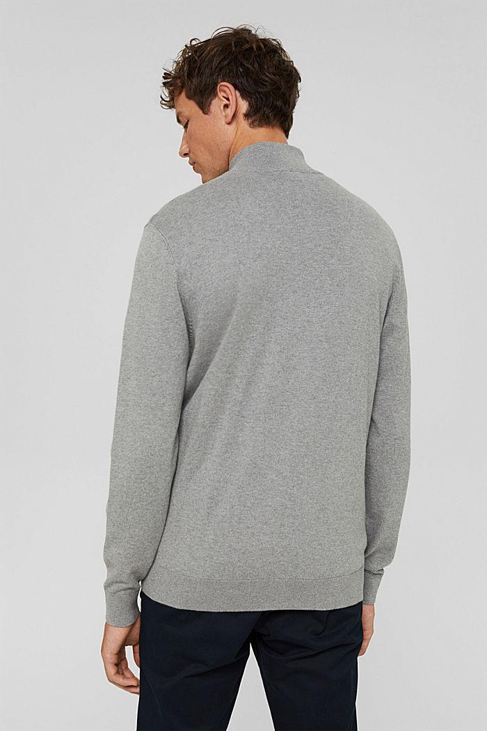 Cashmere blend:  zip cardigan, MEDIUM GREY, detail image number 3