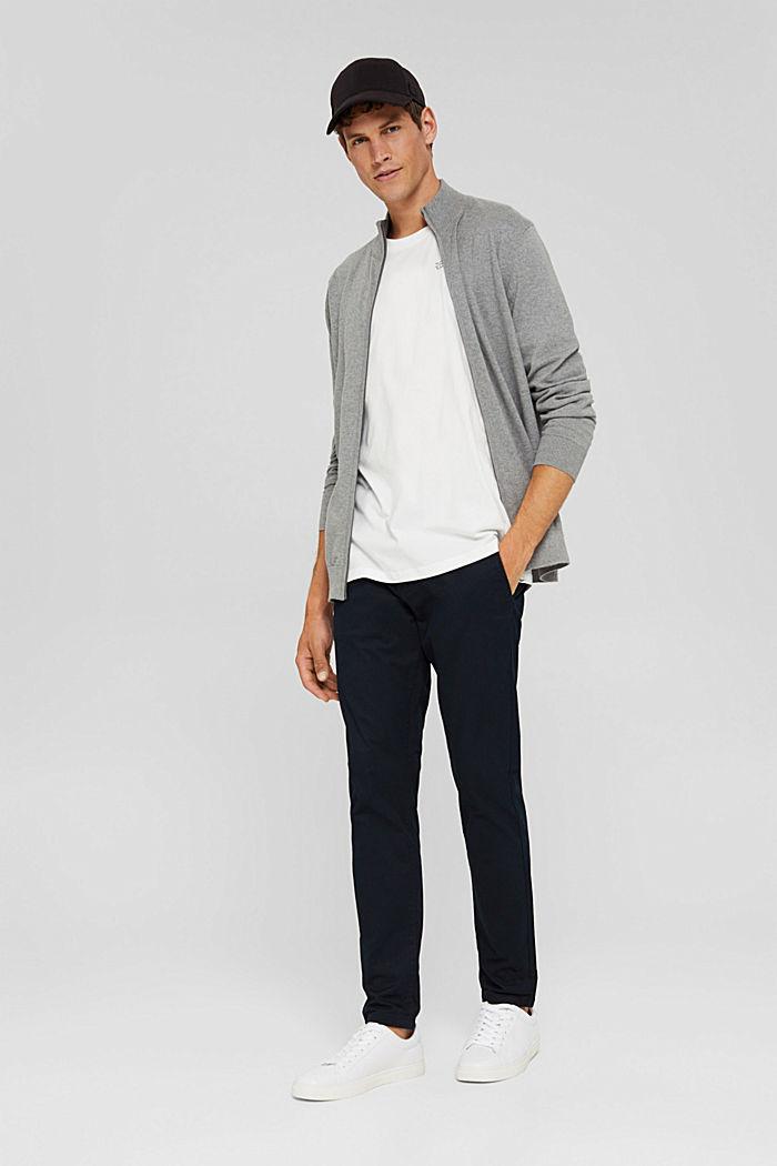 Cashmere blend:  zip cardigan, MEDIUM GREY, detail image number 1