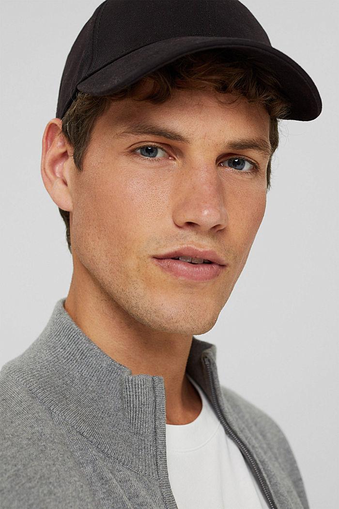 Cashmere blend:  zip cardigan, MEDIUM GREY, detail image number 5