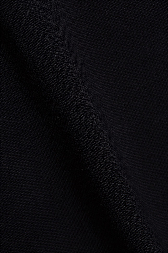 Piqué polo shirt in 100% organic cotton, BLACK, detail image number 5