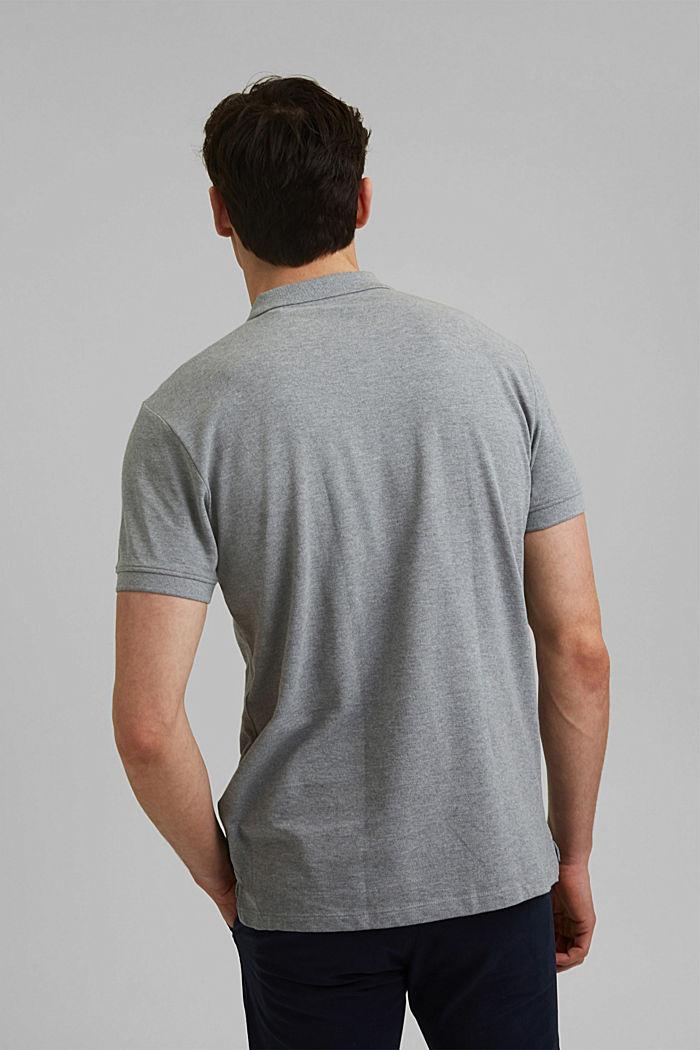 Piqué polo shirt in 100% organic cotton, MEDIUM GREY, detail image number 3