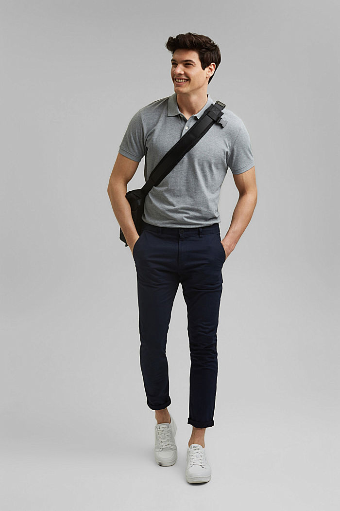 Piqué polo shirt in 100% organic cotton, MEDIUM GREY, detail image number 2
