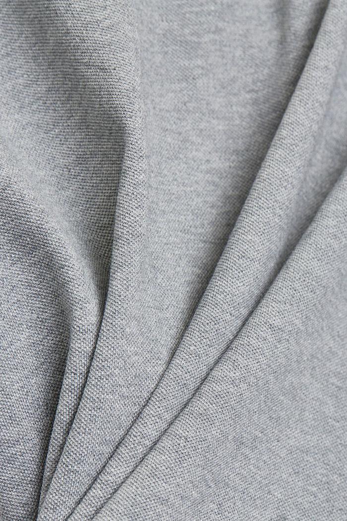 Piqué-Polo aus 100% Bio-Baumwolle, MEDIUM GREY, detail image number 5