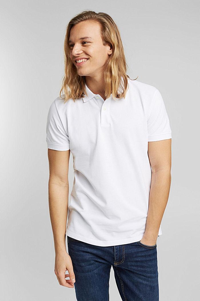 Piqué polo shirt in 100% organic cotton