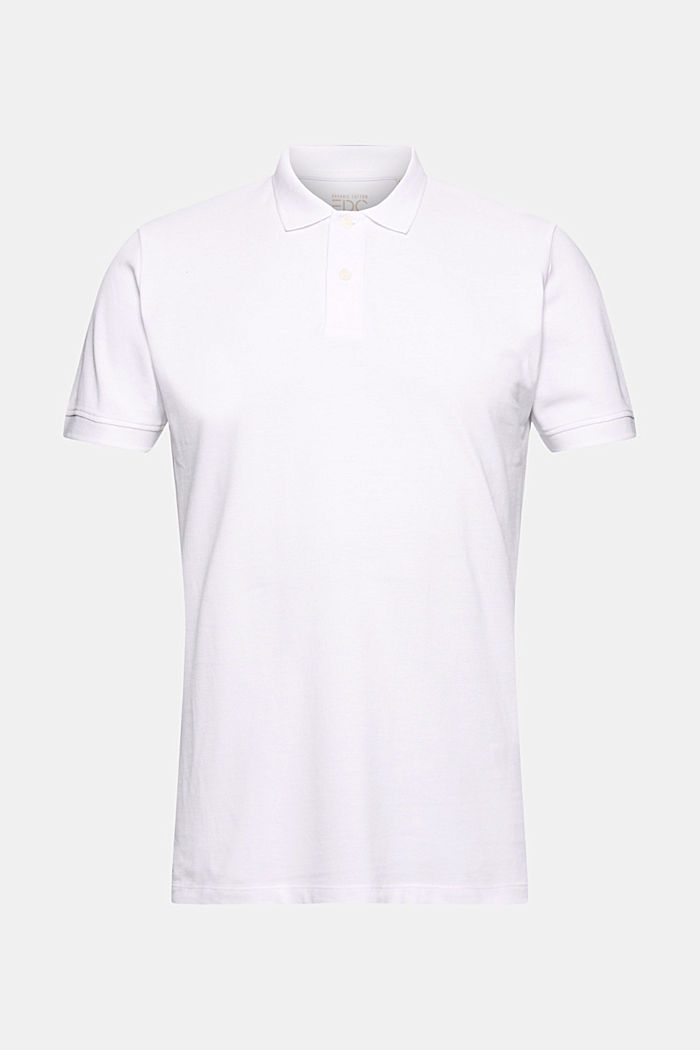 Piqué polo shirt in 100% organic cotton