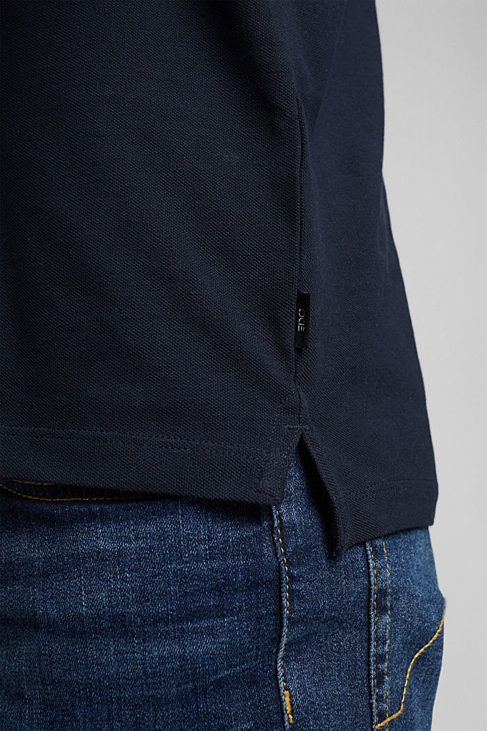 Polo in piqué di 100% cotone biologico, NAVY, detail image number 6