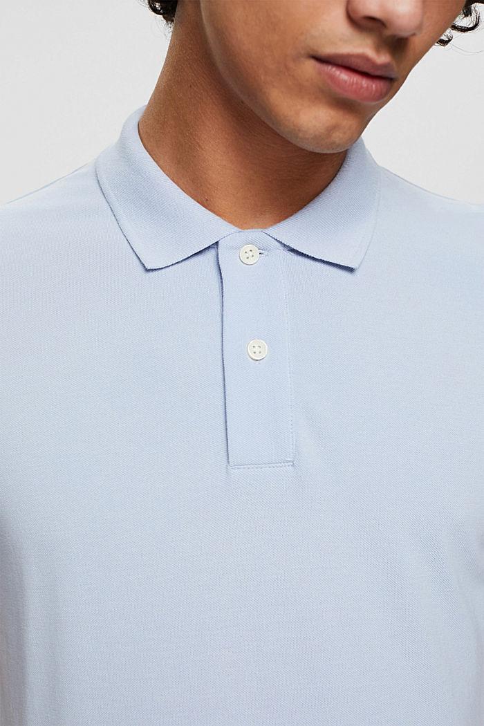 Polo en maille piquée, 100% coton bio, LIGHT BLUE, detail image number 1