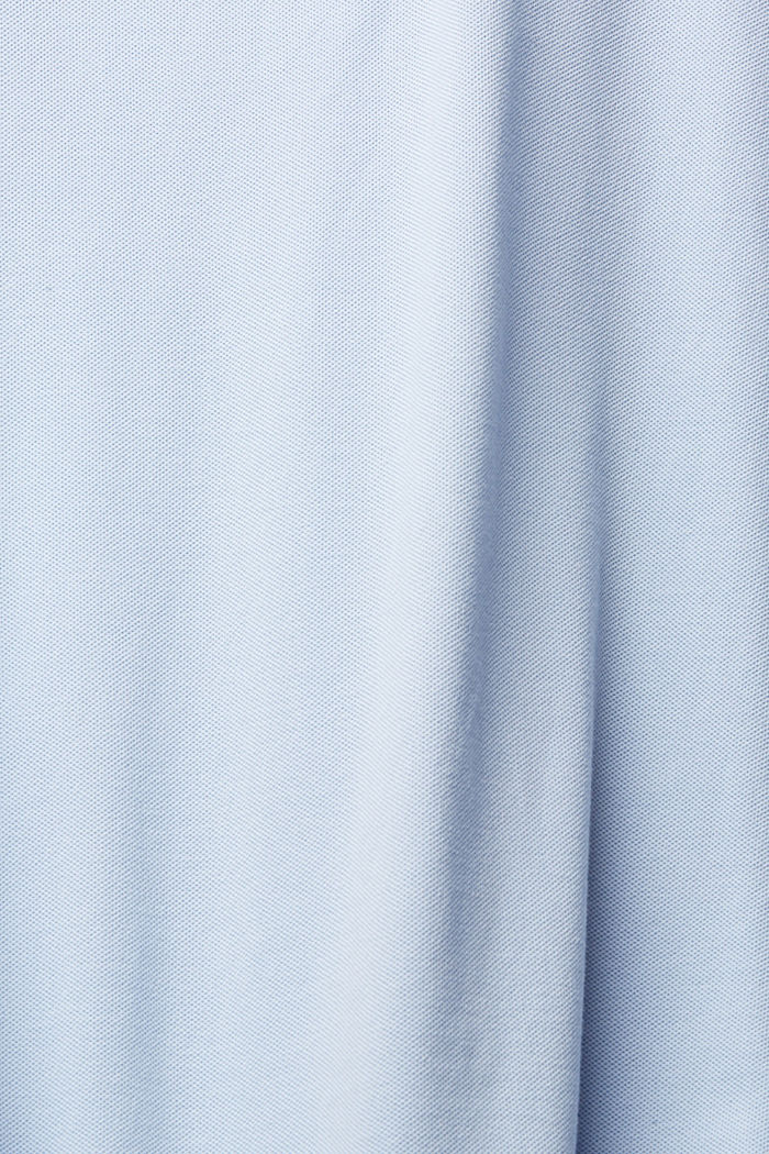 Piqué polo shirt in 100% organic cotton, LIGHT BLUE, detail image number 4