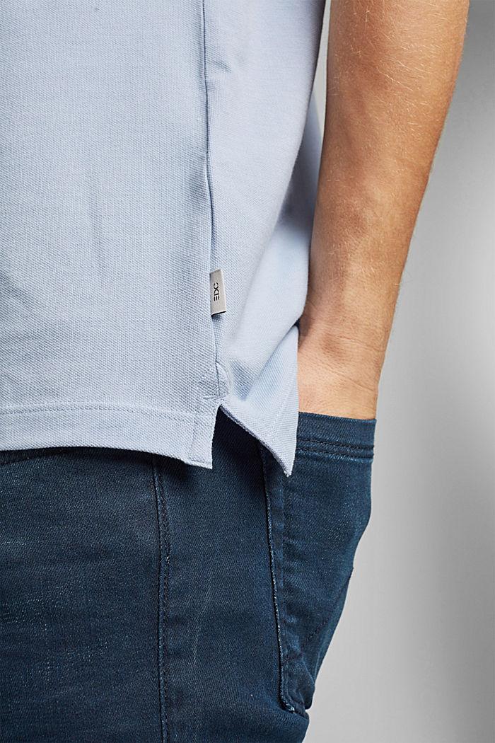 Polo en maille piquée, 100% coton bio, LIGHT BLUE, detail image number 5
