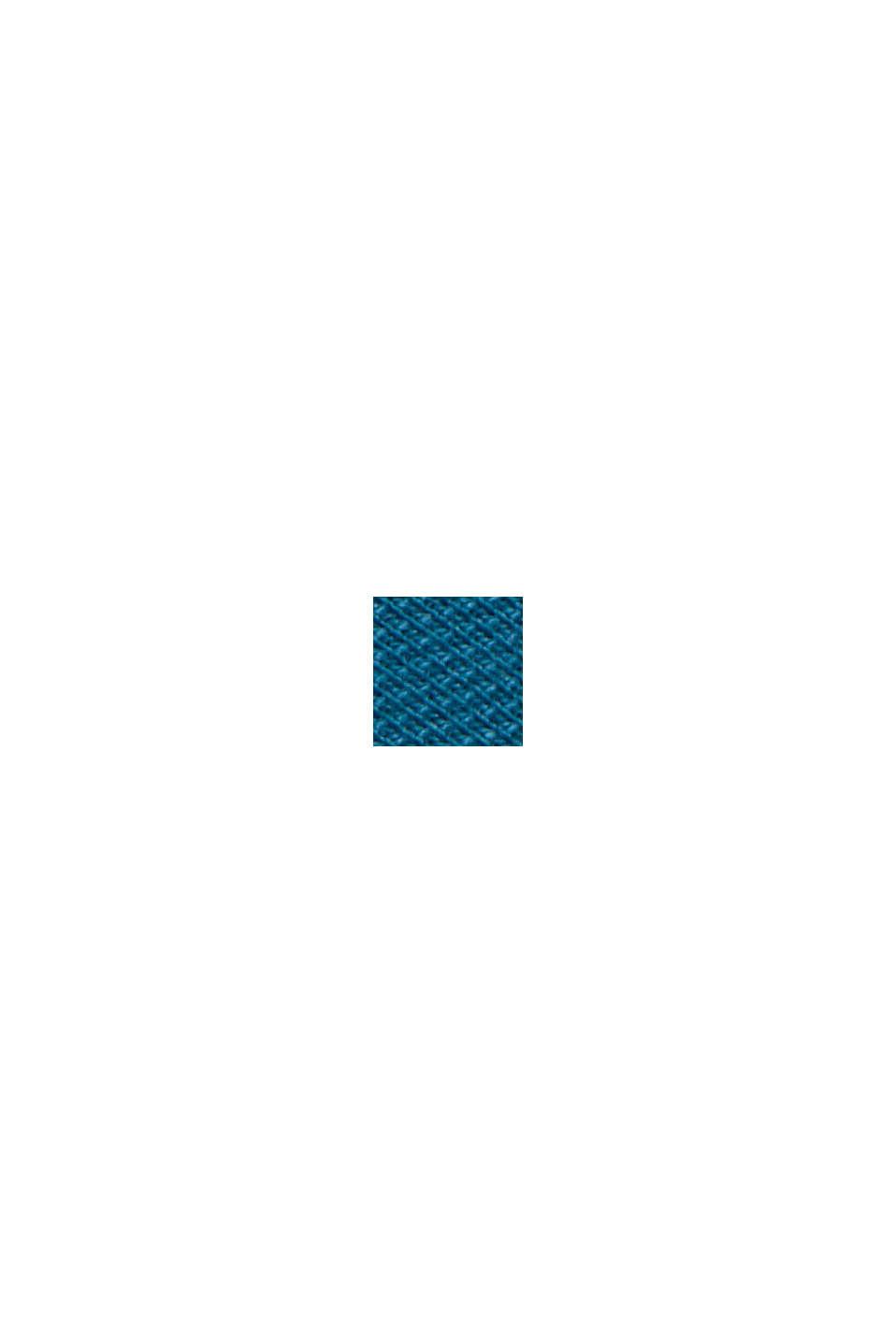 Polo en maille piquée, 100% coton bio, PETROL BLUE, swatch