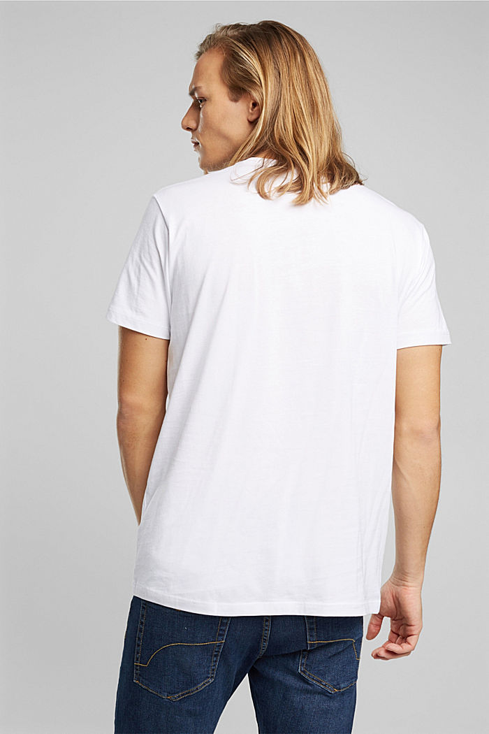 Jersey T-shirt made of 100% organic cotton, WHITE, detail image number 3