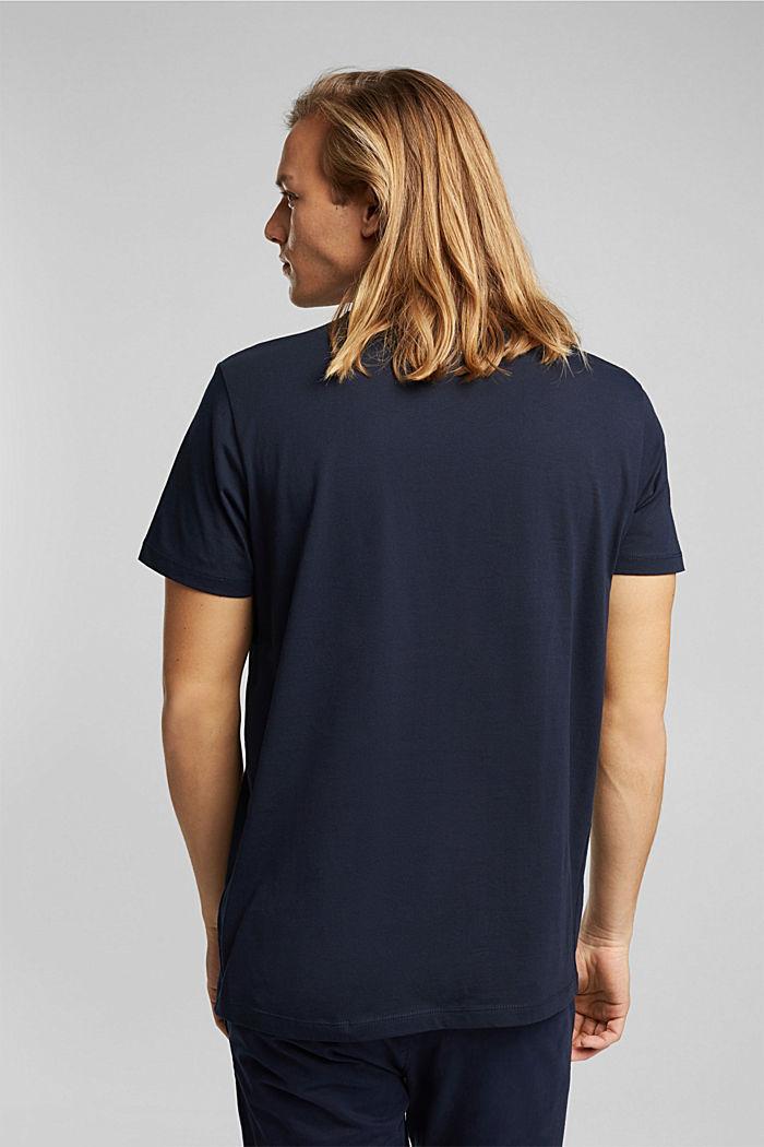 Jersey-T-Shirt aus 100% Bio-Baumwolle, NAVY, detail image number 3