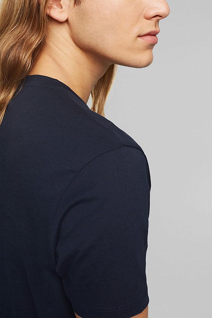 Jersey-T-Shirt aus 100% Bio-Baumwolle, NAVY, detail image number 1