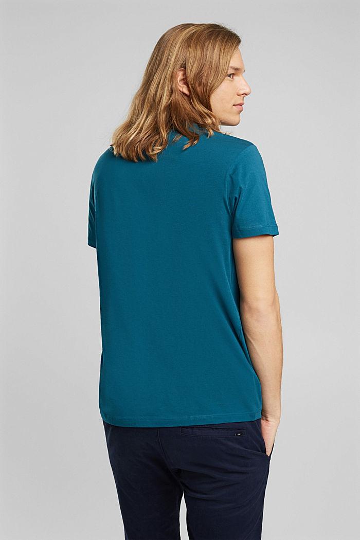Jersey T-shirt van 100% biologisch katoen, PETROL BLUE, detail image number 3