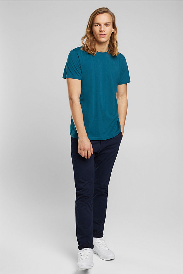 Jersey T-shirt made of 100% organic cotton, PETROL BLUE, detail image number 2
