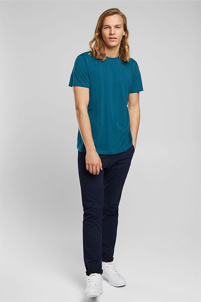Jersey T-shirt van 100% biologisch katoen, PETROL BLUE, detail image number 2
